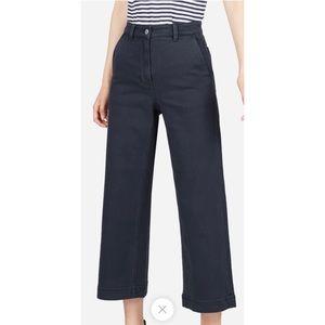 Everlane Wide Leg Crop Pant Navy